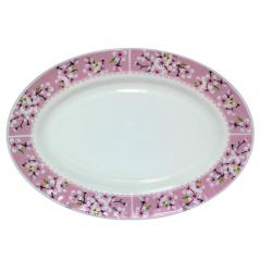 30062-15017 Блюдо овал 12'   Цветение сакуры