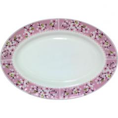 30063-15017 Блюдо овал 14'  Цветение сакуры