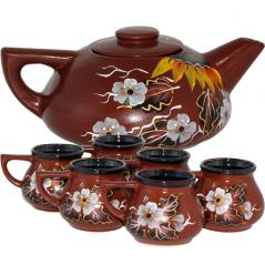 50784 Набор чайный 7пр. <a href='http://snt.od.ua/ru/poisk.html?q=Подсолнух' />Подсолнух</a> (чайн.-1,1л, чашка-360мл)
