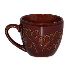 50199 Чашка Одесса рифлёная коричневая 220мл
