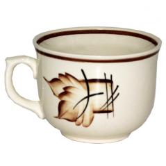 50213 Чашка Апетитка рисунок осень коричневая 500мл