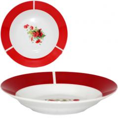 30003-1480 Тарелка 8' суп Полевой мак