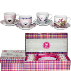 1438 tea service 12pr. 'Flowers' miks4
