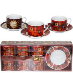 022-12-10 Сервиз кофейный 12пр '<a href='http://snt.od.ua/ru/poisk.html?q=Кофе' />Кофе</a>йня' (чашка-150мл, блюдце-13см)