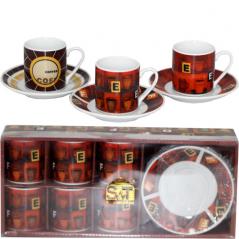 024-12-10 Сервиз эспрессо 12пр '<a href='http://snt.od.ua/ru/poisk.html?q=Кофе' />Кофе</a>йня' (чашка-80мл, блюдце-11см)