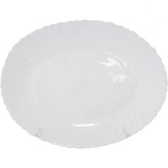 30063-00 Блюдо овальное 13.5' белое D2