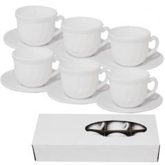 30083-00 Набор кофейный Белый (чашка-150мл, блюдце-12,5см) D1