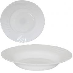 30076-00 Тарелка 9' суп Белый D3