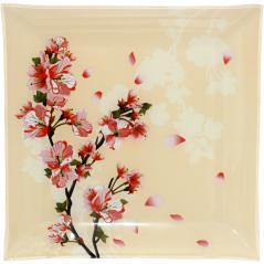 307 Тарелка квадрат 10'-25 см  (Цветущая Вишня)