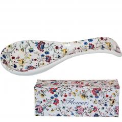 3653-10 Подставка для ложек 'Цветочный шелк' (Длина-21 см, h-2 см)
