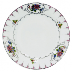 30001-1486 Тарелка 8' Цветы