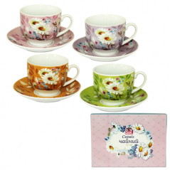 1463-4 Сервиз чайный 12эл. (чашка-220мл, блюдце-14см)