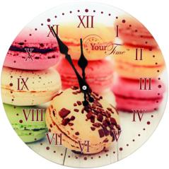 01-377 Часы настенные стекло/кругл. 28 см Пирожное