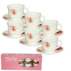 30055-16005 Набор чайный 12 пр.(чашка-190мл, блюдце-14см) 'Цветочная акварель'
