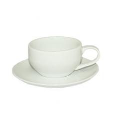13641-06 Чашка с блюдцем белая (чашка-220мл, блюдце-15,5см)