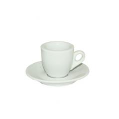 13629-04 Чашка с блюдцем белая (чашка-60мл, блюдце-11,5см)