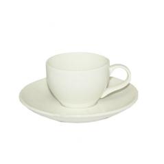 13629-01 Чашка с блюдцем белая (чашка-100мл, блюдце-12,5см)