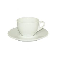 13640-03 Чашка с блюдцем белая (чашка-180мл, блюдце-15,5см)