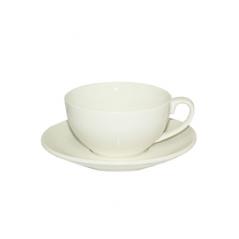 13641-05 Чашка с блюдцем белая (чашка-280мл, блюдце-16см)