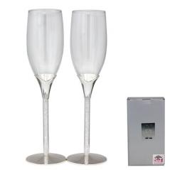 7047-13 Set of glasses for champagne Crystal track 220ml 2pcs