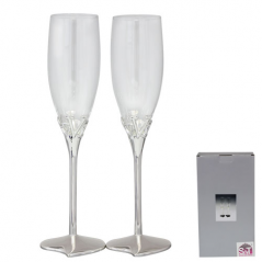 7047-10 Набор бокалов для шампанского Любовь 2шт 220мл