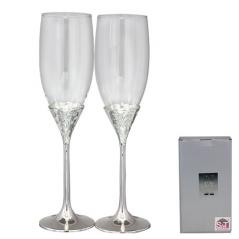 7047-12 Set of glasses for champagne Tenderness 220ml 2pcs
