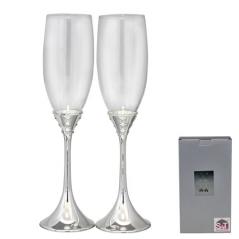 7047-17 Набор бокалов для шампанского Грация 2шт 220мл