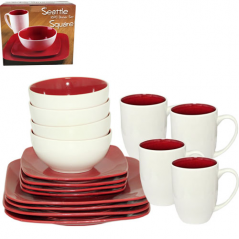 439 Set lunch 16pr. (White and red)