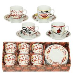1541 Сервиз кофейный 12 пр. (чашка-70мл,блюдце-11см)