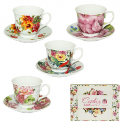 1463-7 Сервиз чайний 12 пр. (чашка-240мл,блюдце-14см)