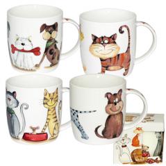 5064 Чашка Смешные коты подарочная 360мл