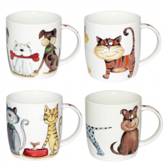 5065 Чашка Смешные коты  360мл