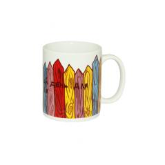 040-01-61 Чашка 320мл Цветной забор