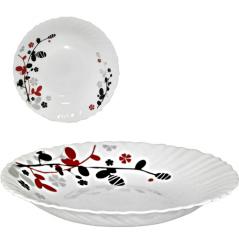 30067-1066 Тарелка суп 8,5' Красное и черное