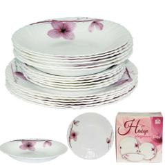 450-100-18 Набор обеденный 18пр. Орхидея (тарелки-7,5' и 9,5'; тарелка суп.-8,5')