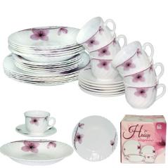 450-100-30 Набор обеденный 30пр. Орхидея (тарелки-7,5' и 9,5'; тарелка суп.-8,5'; чашка-220мл; блюдце-13,5см)