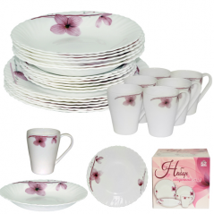 450-100-24 Набор обеденный 24пр. Орхидея (тарелки-7,5' и 9,5'; тарелка суп.-8,5'; чашка-400мл)