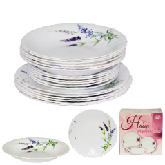 450-120-18 Набор обеденный 18пр. Прованс (тарелки-7,5' и 9,5'; тарелка суп.-8,5')