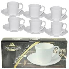 FD-2603-K Набор чайный 12 предметов (чашка-280мл, блюдце-16см)