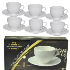FD-2603-P Набор чайный 12 предметов (чашка-260мл, блюдце-15см)