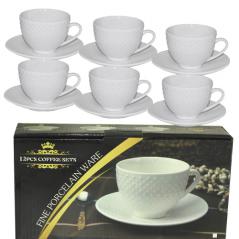 FD-2064-B Набор чайный 12 предметов (чашка-260мл, блюдце-15см)