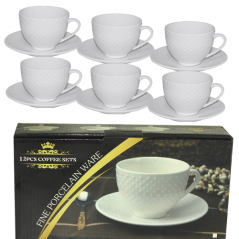 FD-2603-D Набор чайный 12 предметов (чашка-260мл, блюдце-15см)