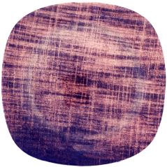 3716 Тарелка кв. с кр. краями 10 Виолетт дрим  25 см