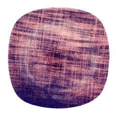 3715 Тарелка кв. с кр. краями 8  Виолетт дрим  20 см