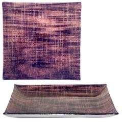 307 Тарелка квадрат 10 Виолетт дрим 25 см