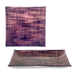 306 Тарелка квадрат 8 Виолетт дрим 20 см