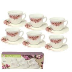 30028-340 Набор чайный 12пр. (чашка-190мл, блюдце-14см) Ветка сакуры