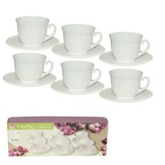 30028 Набор чайный 12пр (чашка-190мл, блюдце-14см) Глазурь 130313