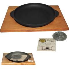 Т101-010 Сковорода чугунная литая 18*2,5см с подставкой без коробки