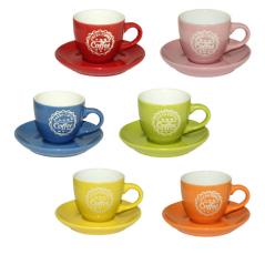 13650-3 Чашка с блюдцем (чашка-90мл, блюдце-11см) Фреш кофе